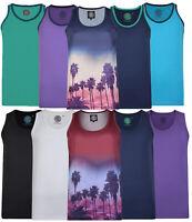Mens KAM Sleeveless Vest Cotton Gym Shirt Top Basic Running Big Size 2-8XL