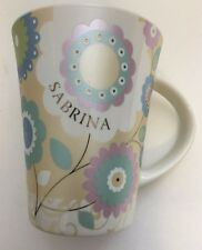 "History & Heraldry Bone China Coffee Tea Hot Cocoa personalized ""Sabrina""Mug Cup"