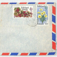 BT111 1976 Falkland Islands FLOWERS ISSUE Commercial Air Mail Cover {samwells}