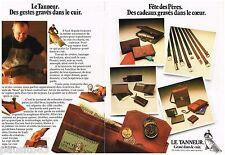 PUBLICITE ADVERTISING 095  1978  LE TANNEUR   marquinier  ( 2p)  ceintures porte