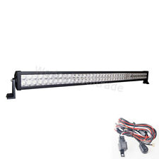 42inch 240W LED Light Bar Combo+Wire Kit For Off-Road Truck 4x4 Car Boat SUV ATV