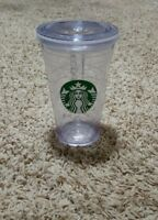 Starbucks Clear Plastic Cold Drink Tumbler To Go Cup Travel 16oz 2011 NO STRAW