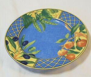 "Limoges by Laure Japy Salad Dessert Plate Provence 8.75"" fruit blue"