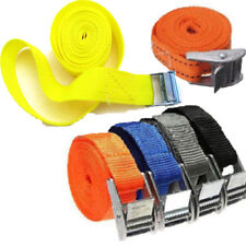 1pc Nylon Pack Cam Tie Down Strap Cargo Lash Luggage Bag Belt With Metal Buckle