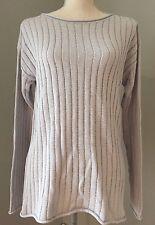 NWT J Crew Light Gray Cotton Blend Knit Top Sweater Size M