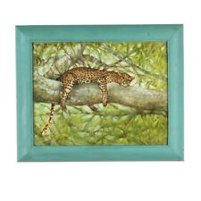 """""""Nap Time"""" (Cheetah Resting in Tree) By Anthony Sidoni Oil Painting 14""""x17"""""""