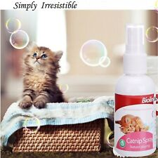 Bioline Cat Catnip in Spray or Bubble formula to use on toys, beds, & scratch