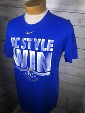 "Men's Nike Royals ""KC Style Win"" World Series Champs Celebration Size Medium (Q)"