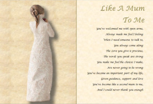 LIKE A MUM TO ME GIFT - Personalised Poem (A4 laminated gift)