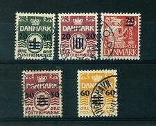 Faroe Islands Stamps Scott # 2-6 VF Complete Set Used Cat. Value $507.50 (S24)