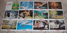 Bambi Spanish lobby card set 12 Walt Disney animation 1987 re-release