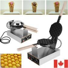 1.4KW Electric Bubble Egg Cake Maker Oven Non Stick Waffle Baker Machine CA