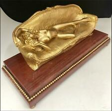 Titanic Bronze 24k Gold Gilt Plated Art Sculpture Nude Rose Movie Commemorative.