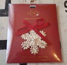 NEW Lenox Wine Bottle Charm Snowflake Metal Ornament Christmas Gift