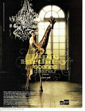 PUBLICITE ADVERTISING 116  2008  Déco-addict 20 ans  lustre cristal Swarovski