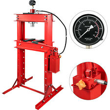 30T Presse Hydraulique d'Atelier à Chassis avec pompe à pédale et Manomètre