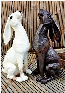 Moon Gazing Hare Garden Ornament Rabbit Sculpture Resin New Statue Outdoor Decor
