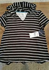 NEW Splendid Fall Stripe Shirt with Hood MSRP $58.00 Size S