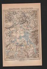 Landkarte map 1896: YELLOWSTONE - NATIONAL PARK. Maßstab: 1 : 590 000