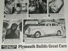 1938 Plymouth ad, De Luxe Sedan, Metal use