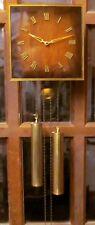 Vintage Emil Schmeckenbecher Wall Clock - Brass Weights & Pendulum - 8 Day