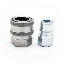 "TEMA Quick Release Pressure Washer Coupling Set Pair - 3/8"" BSP Female 350BAR"