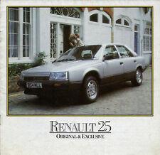 RENAULT 25 1984-85 mercato britannico mailer vendite opuscolo TS GTS GTX v6i