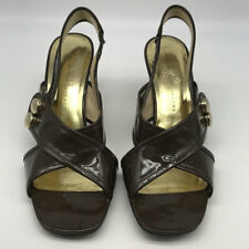 Marc By Marc Jacobs Brown Patent Slingback Heels Size 8.5