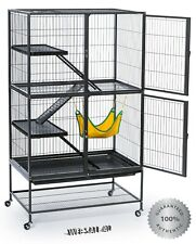 Large Ferret Cage Rabbit Guinea Pig Chinchilla Convertible Shelter Deluxe Mobile