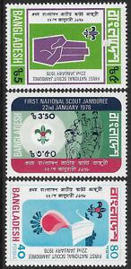 BANGLADESH 1978 BOY SCOUTS 3v MINT
