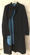 Burberry London Long Slim Women's Black Trench Coat w/rmvbl wool lining Sz US 6
