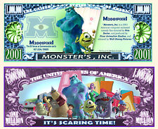 Monster's Inc. Million Dollar Bill Collectible Fake Funny Money Novelty Note
