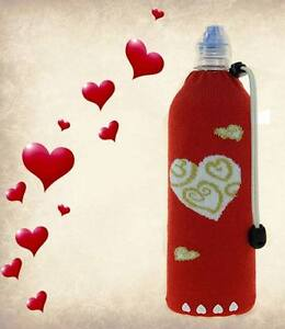 Hearts-Foldable Insulated Wine Bottle Bag Water Bottle Koozie Cooler Coozie Bag
