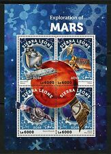 SIERRA LEONE  2016 EXPLORATION OF MARS SHEET MINT NEVER HINGED