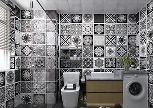Moroccan Patterned Sticky Back Plastic Tiles Kitchen Bathroom Fablon Gloss Retro
