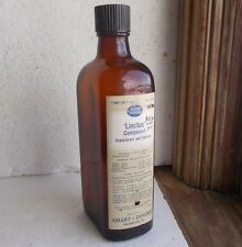 SHARP & DOHME EMB & LABEL LINCTUS EXPECTORANT WITH CODEINE AMBER BOTTLE