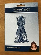 TATTERED LACE LARGE QUEEN OF SNOWFLAKES DIE TLD0571 Used Once