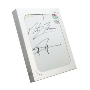 Jonny Wilkinson And Martin Johnson Signed England Rugby Jersey. In Gift Box