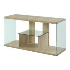 Convenience Concepts SoHo TV Stand, Weathered White - 131590WW