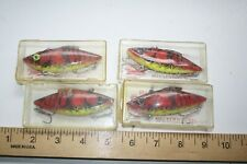 4 ct Bill Lewis Ratl L Trap 3/4 oz Fishing Lures Red Craw Chart Belly LP11