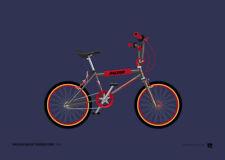 Raleigh Night Burner MK2 – 1984 Old School BMX – A4 Print – Retro gift