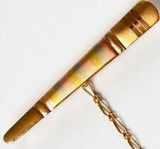 Krawattenspange Uno a Erre 14 Karat 585 Gold 4,45 g Gelbgold Weißgold Roségold