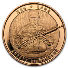 1 oz Copper Round - Men and Arms - SKU #87365