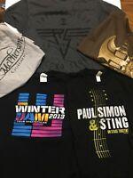 5 Rock Music Concert T-Shirts Adult Small Paul Simon Sting Clapton Winter Jam et