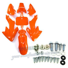 Carenatura in Plastica Arancione corpo fender + viti per PIT DIRT BIKE HONDA XR50 CRF50