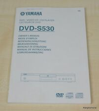 Yamaha DVD-S530 Bedienungsanleitung (mehrsprachig, auch in Deutsch)