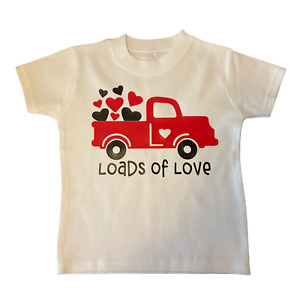 Valentines Day Baby and Toddler T-Shirt. 'Loads of Love' Cute T-Shirt.