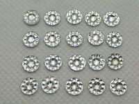 1000 Clear Acrylic Flatback Round Rhinestone Gems 6mm Embellishments