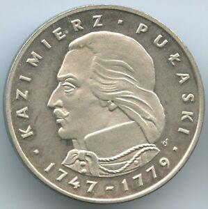 GS164 - Poland 100 Zlotych 1976 Y#84 Kazimierz Pulaski Silver Polen
