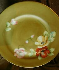 Antique 6 PCS  STUNNING SET  NIPPON Dessert Dishes Poppies Hand Painted